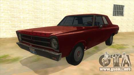 1965 Plymouth Belvedere 2-door Sedan para GTA San Andreas