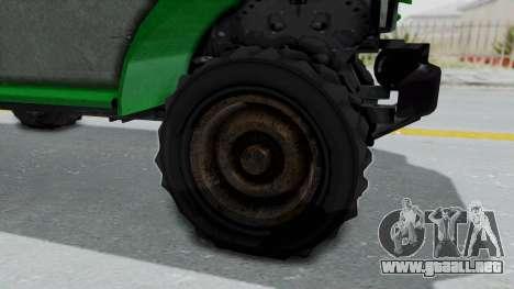 GTA 5 Bravado Duneloader Cleaner Worn IVF para GTA San Andreas vista hacia atrás