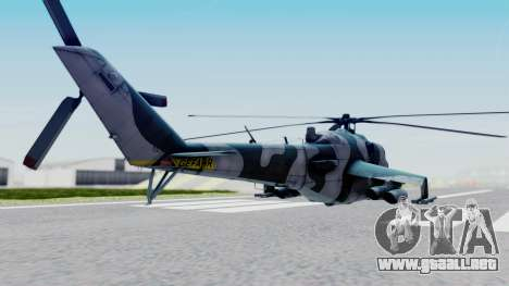 Mi-24V GDR Air Force 45 para GTA San Andreas left