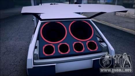 VAZ 2108 Lambo para GTA San Andreas vista hacia atrás