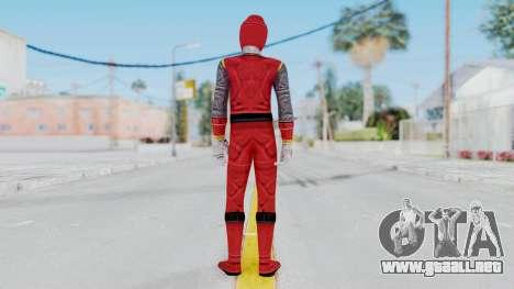 Power Rangers Ninja Storm - Red para GTA San Andreas tercera pantalla