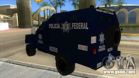 Black Scorpion Police para GTA San Andreas vista posterior izquierda