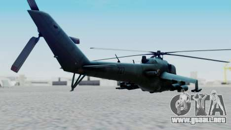 Mi-24V Polish Air Force 727 para GTA San Andreas left