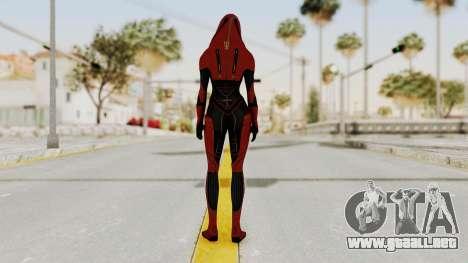 Mass Effect 2 Kasumi Red para GTA San Andreas tercera pantalla
