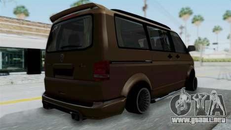 Volkswagen Transporter TDI Final para GTA San Andreas left