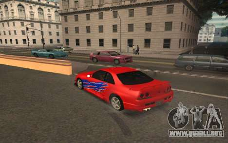 Nissan Skyline R33 Tunable para la vista superior GTA San Andreas