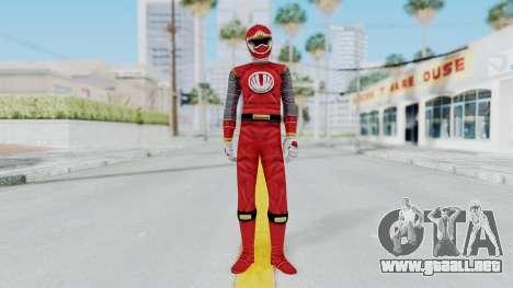 Power Rangers Ninja Storm - Red para GTA San Andreas segunda pantalla