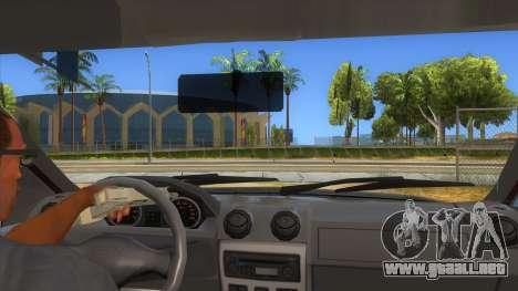 Dacia Logan Sport para visión interna GTA San Andreas