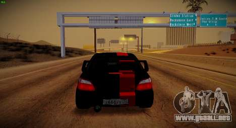 Subaru Impreza WRX STi Bestia Negra para visión interna GTA San Andreas