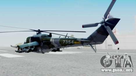 Mi-24V Czech Air Force 7354 para GTA San Andreas left