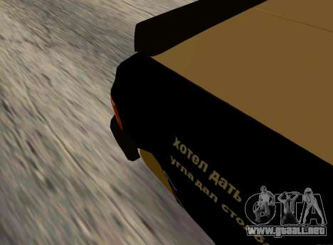 Volga 3110 Classic Batalla para GTA San Andreas vista posterior izquierda