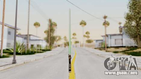 Star Wars LightSaber Green para GTA San Andreas segunda pantalla