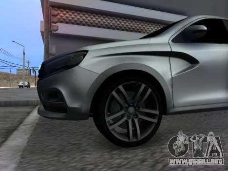 Lada Vesta HD (beta) para visión interna GTA San Andreas
