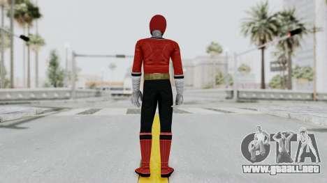 Power Rangers Samurai - Red para GTA San Andreas tercera pantalla