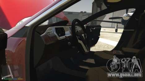 GTA 5 Tesla Model S delantero derecho vista lateral