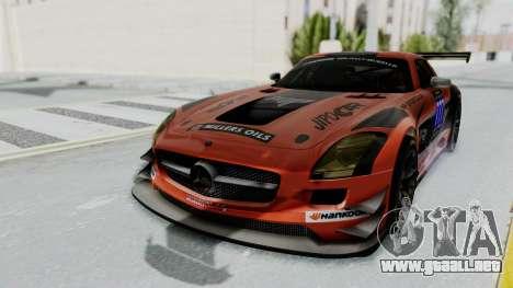Mercedes-Benz SLS AMG GT3 PJ7 para vista inferior GTA San Andreas