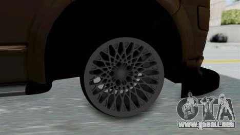 Volkswagen Transporter TDI Final para GTA San Andreas vista posterior izquierda