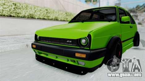 Volkswagen Golf Mk2 R36 para la visión correcta GTA San Andreas