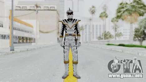 Power Rangers Dino Thunder - White para GTA San Andreas segunda pantalla