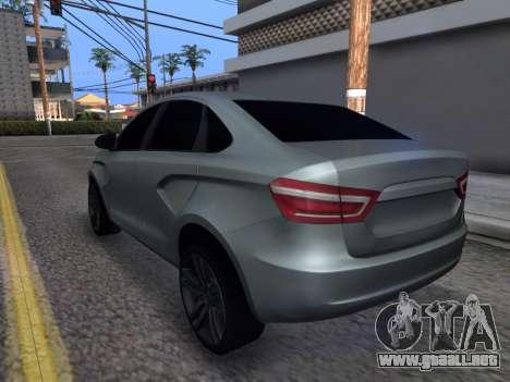 Lada Vesta HD (beta) para GTA San Andreas vista posterior izquierda