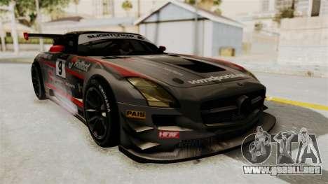 Mercedes-Benz SLS AMG GT3 PJ2 para la vista superior GTA San Andreas