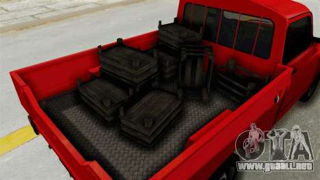 Zastava 850 Pickup para GTA San Andreas vista hacia atrás