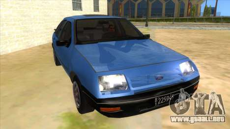 Ford Sierra 1.6 GL Updated para GTA San Andreas vista hacia atrás