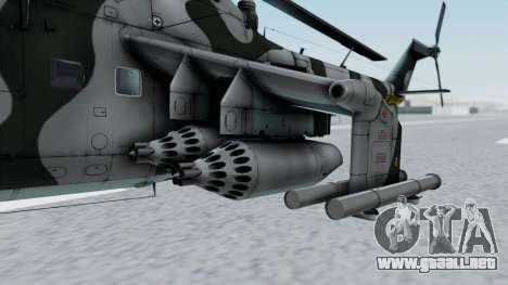 Mi-24V GDR Air Force 45 para GTA San Andreas vista hacia atrás