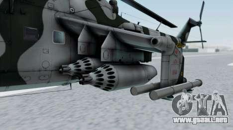 Mi-24V GDR Air Force 45 para GTA San Andreas vista hacia atrás