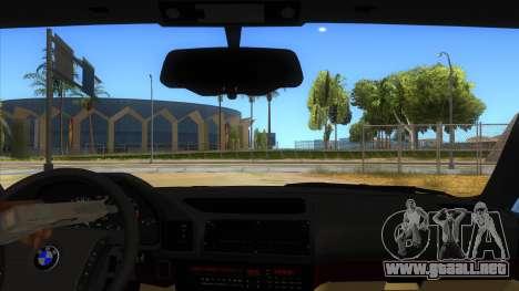BMW M5 E34 Touring para visión interna GTA San Andreas