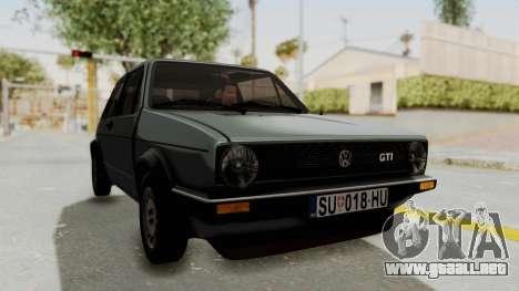Volkswagen Golf Mk1 GTI para la visión correcta GTA San Andreas