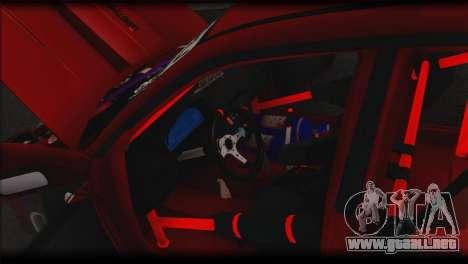 Subaru Impreza STi Drag Racing Unlim 500 para la vista superior GTA San Andreas