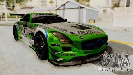 Mercedes-Benz SLS AMG GT3 PJ2 para las ruedas de GTA San Andreas
