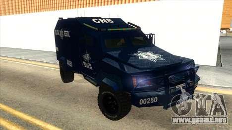 Black Scorpion Police para GTA San Andreas vista hacia atrás