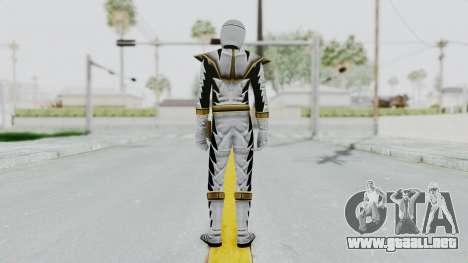 Power Rangers Dino Thunder - White para GTA San Andreas tercera pantalla