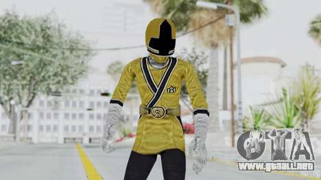 Power Rangers Samurai - Yellow para GTA San Andreas