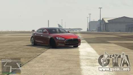 GTA 5 Tesla Model S vista lateral izquierda