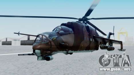 Mi-24V Soviet Air Force 0835 para GTA San Andreas