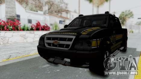Chevrolet S10 Policia Caminera Paraguaya para GTA San Andreas