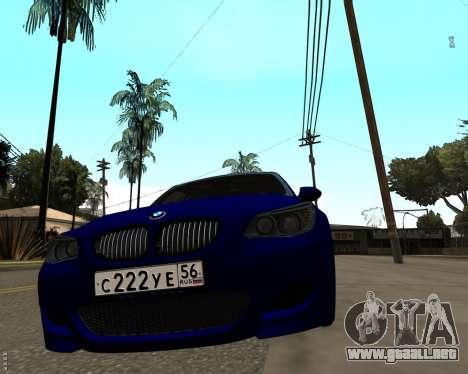 BMW M5 E60 v1.0 para GTA San Andreas vista posterior izquierda