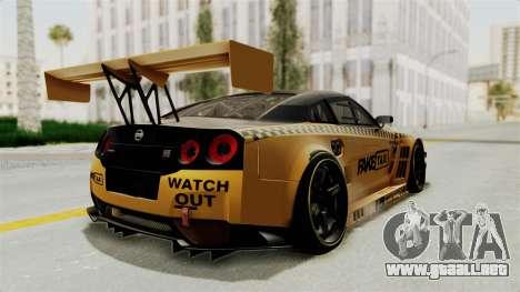 Nissan GT-R Fake Taxi para la visión correcta GTA San Andreas