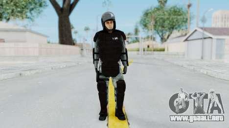 La Gendarmería, Que Antidisturbios De La Piel para GTA San Andreas segunda pantalla