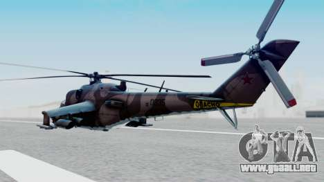 Mi-24V Soviet Air Force 0835 para GTA San Andreas left