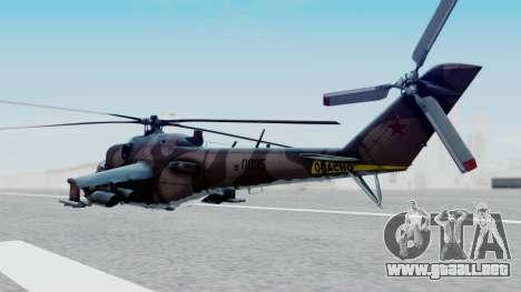 Mi-24V Soviet Air Force 0835 para GTA San Andreas left