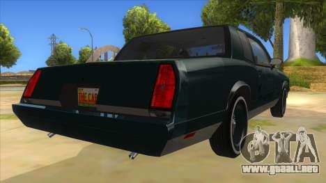 Chevrolet Monte Carlo 81 para la visión correcta GTA San Andreas