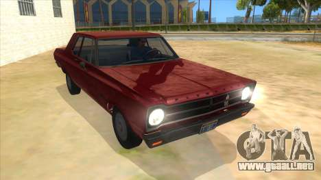 1965 Plymouth Belvedere 2-door Sedan para GTA San Andreas vista hacia atrás