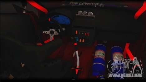 Subaru Impreza STi Drag Racing Unlim 500 para vista lateral GTA San Andreas