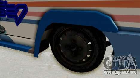 Toyota Kijang Miku Itasha Version para GTA San Andreas vista hacia atrás