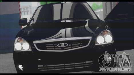 Lada Priora Sedan para la vista superior GTA San Andreas