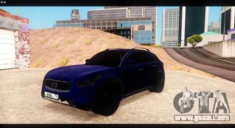 Infiniti FX37 para visión interna GTA San Andreas